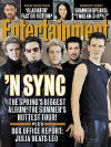 The *NSYNC members on the cover of Entertainment Weekly magazine. (May 2000)