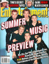 The *NSYNCers on the cover of Entertainment Weekly magazine. (May 2001)